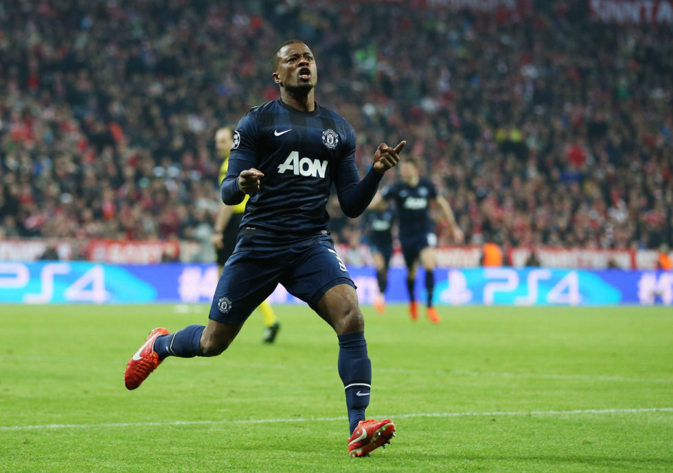 Patrice Evra is one of the best Manchester United left-backs ever