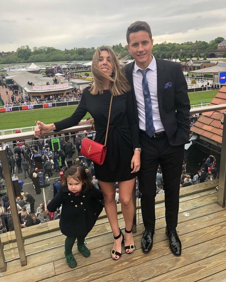 Ander Herrera and wife Isabel Collado