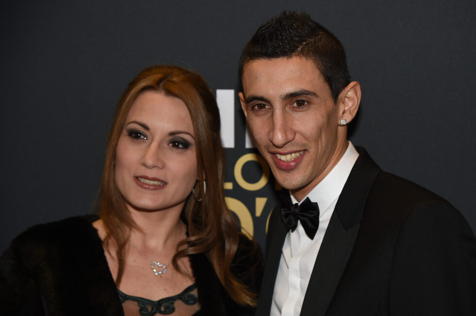 Angel Di Maria and wife Jorgelina Cardoso