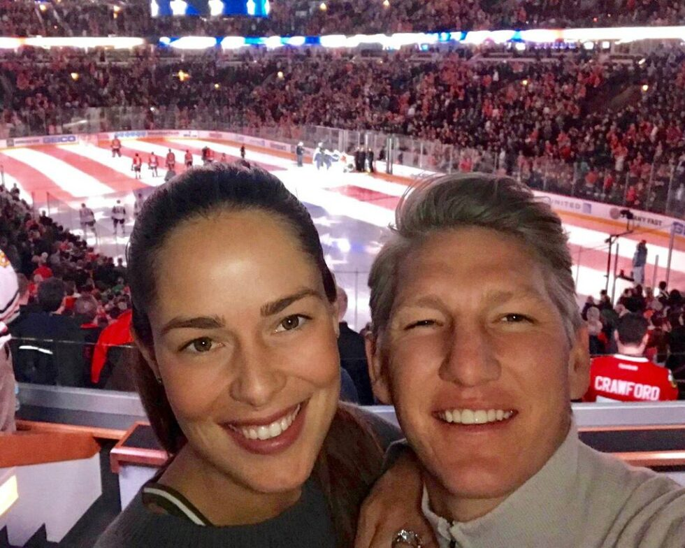 Bastian Schweinsteiger and wife Ana Ivanovic