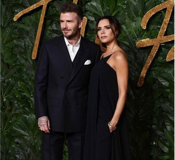 David Beckham with wife Victoria Beckham
