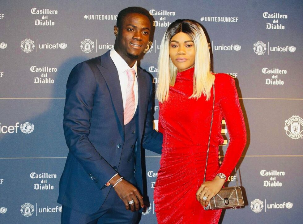 Eric Bailly and wife Vanessa Troupah