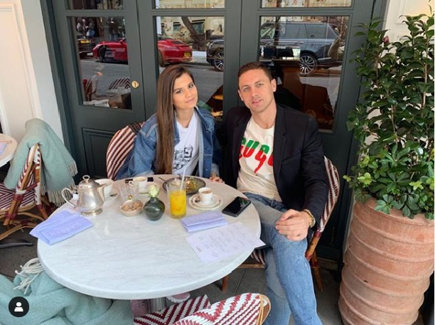 Nemanja Matic and his wife Aleksandra Pavic