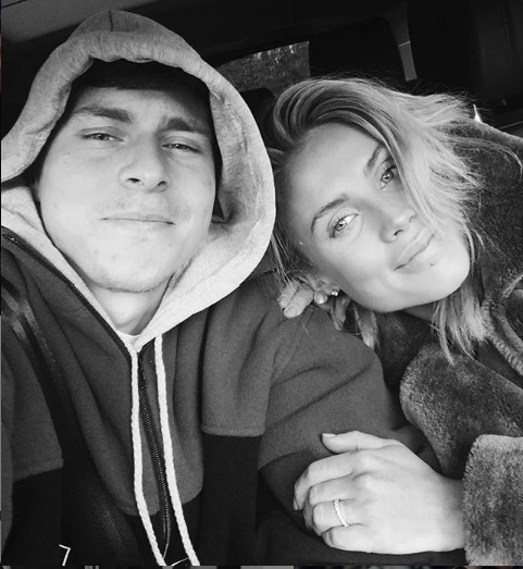 Victor Lindelof and his girlfriend Maja Nilsson