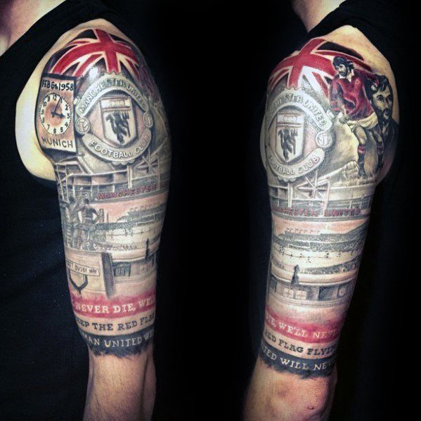 Manchester United arm tattoo ideas