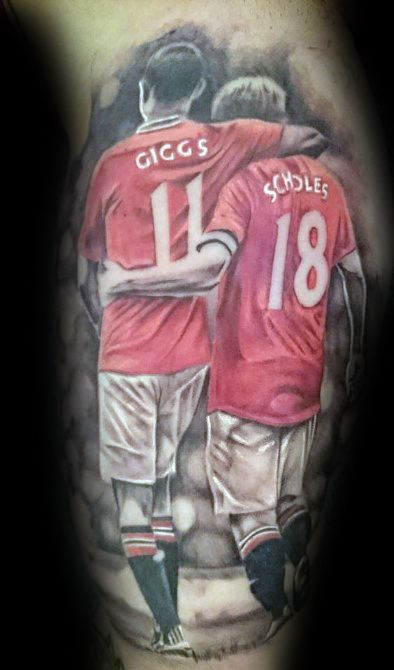 Manchester United tatto Paul Scholes and Ryan Giggs