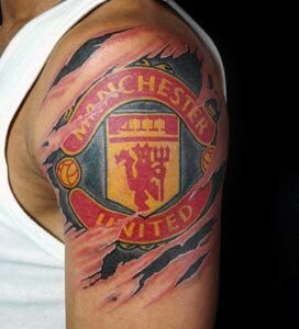 Manchester United tattoo arm