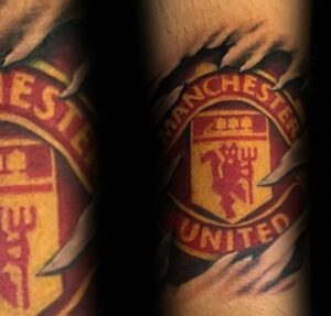 Manchester United tattoo design