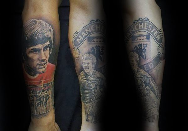 Manchester United tattoos players design