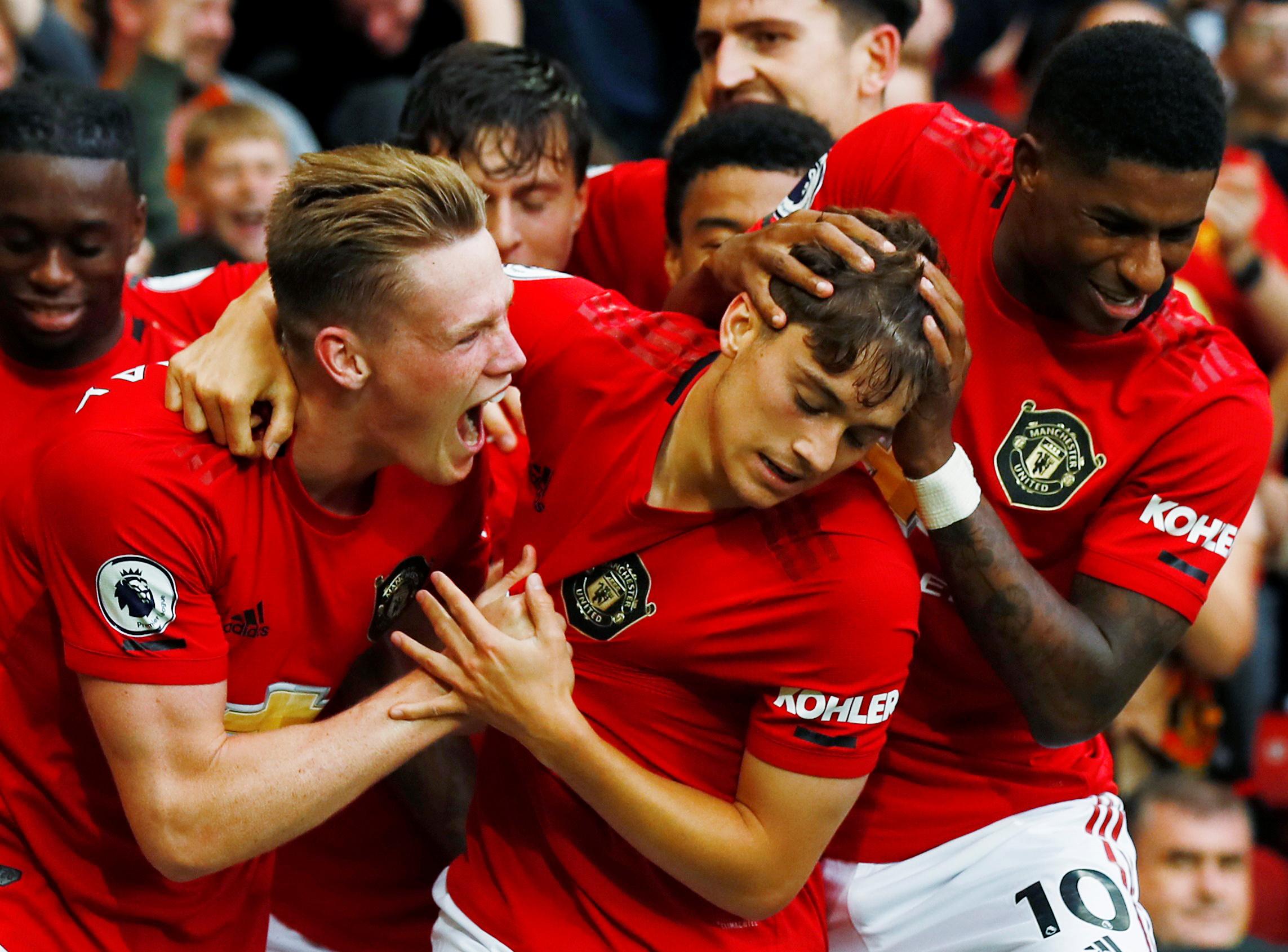 Daniel James and Marcus Rashford form an impressive training partnership